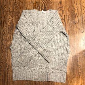 Gray knitted sweater shirt